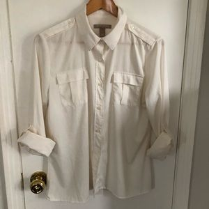 Cream Army Style Blouse